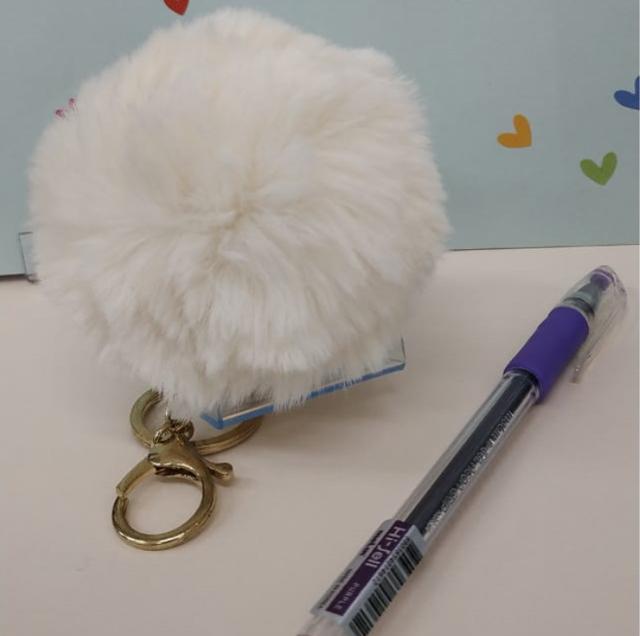 Pompom e caneta